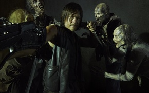 Picture knife, zombies, The Walking Dead, The walking dead, Norman Reedus, Daryl Dixon