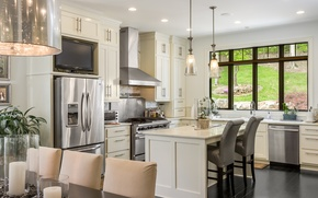 Picture design, style, table, furniture, chairs, kitchen