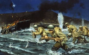 Picture war, soldiers, run, Italy -- September 9, 1943 -- The U.S. Army's longest World War …