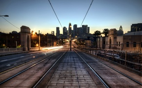 Picture sunset, the city, USA, Los Angeles