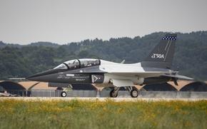 Wallpaper the plane, Lockheed Martin, combat training, T-50A