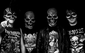 Picture skull, metal, Gomad, 4 dude