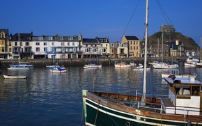 Wallpaper Pier, Boat, Town
