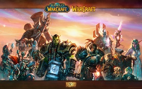 Picture elf, people, WoW, World of Warcraft, dwarf, Orc