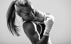 Picture boxing, movement, hit, training