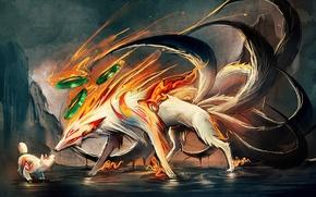 Picture art, Fox, cub, sakimichan, tails, deviantART