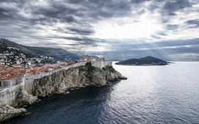 Picture sea, landscape, panorama, Croatia, Croatia, Dubrovnik, Dubrovnik