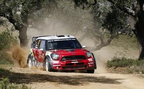 Picture Mini, Cooper, Dust, WRC, Rally, Rally, Mini, Sordo