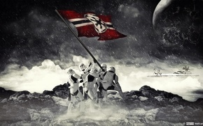 Picture Star wars, Star wars, Flag, Stormtrooper