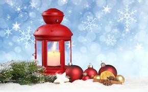 Picture stars, snow, decoration, snowflakes, balls, lantern, New year, new year, balls, snow, stars, merry christmas, …