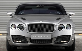 Picture bentley, Ball Wed, grey, tuning, 2009, front, bullet, continental gt, mate