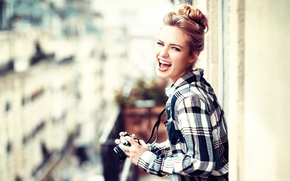 Picture girl, laughter, Lods Franck, Happy photographer