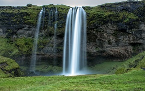 Picture rock, stream, Iceland, Iceland, Seljalandsfoss Waterfall, the seljalandsfoss waterfall