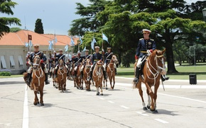 Picture Argentina, Soldiers, Horse, Trumpet, Cavalry, Historic, Military Parade