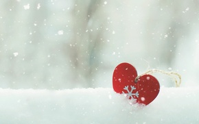 Picture snow, mood, heart