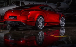 Picture Bentley, Continental, Red, Mansory, Plane(2013)
