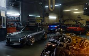 Picture Front, Wheels, Garage, Project, Engine, ADV.1, 280Z, Dutsun