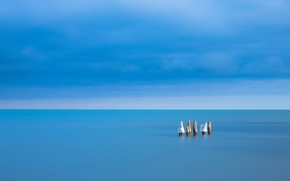 Picture sea, the sky, landscape