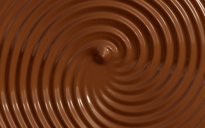 Picture circles, chocolate, texture, brown background, liquid