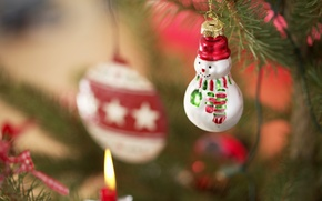 Wallpaper holiday, toys, new year, snowman, tree, the scenery, happy new year, christmas decoration, Christmas Wallpaper, ...