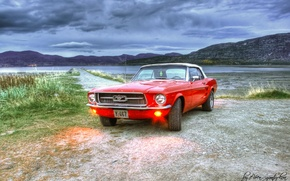 Picture mustang, Ford, hdr photo