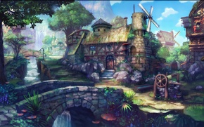 Picture House, Fantasy, Nature, Wood, Village, Forest, Painting, Fairy, Middle Age