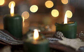 Wallpaper holiday, candles, background