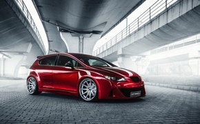 Wallpaper car, red, tuning, Seat Leon