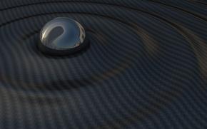 Picture wave, dark, ball, sphere