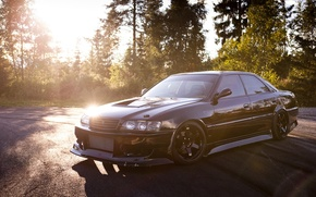 Picture The sun, Japan, Machine, Tuning, Black, Japan, Toyota, Car, Car, Black, Wallpapers, Tuning, Beautiful, Toyota, …