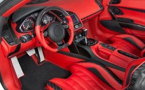 Picture Audi, Red, Audi R8, Spyder, Mansory, Audi R8 Spyder, R8 Spyder, Interior, Sports Cars