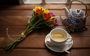 Picture flowers, background, tea
