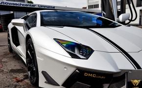 Picture machine, lights, Lamborghini, supercar, the front, LP700-4, Aventador, DMC Luxury