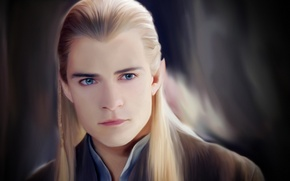 Picture Orlando bloom, the Lord of the rings, art, lord of the rings, Legolas, elf, face