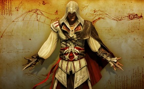 Wallpaper Assasin's Creed 2, with knives, warrior