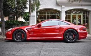 Picture Mercedes, Red, AMG, Black Series, SL65