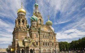 Wallpaper the sky, Saint Petersburg, The Savior on blood
