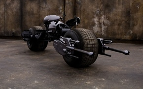 Wallpaper The dark knight, motorcycle, Batman