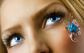 Picture girl, eyes, art
