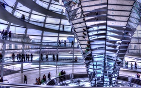 Picture Germany, Berlin, The Reichstag, Inside the dome