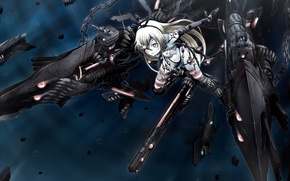 Picture girl, weapons, anime, art, monsters, kantai collection, ogawa-syou, ha-class