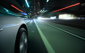 Picture road, macro, light, lights, reflection, strip, movement, city, markup, speed, excerpt, wheel, blur, disk, car, …
