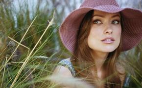 Picture grass, hat, Wild, Olivia