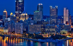 Picture city, the city, USA, Pennsylvania, Pittsburgh