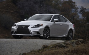 Picture Auto, Lexus, grille, Grey, The hood, Sedan, sport, The front, Overcast, ISF