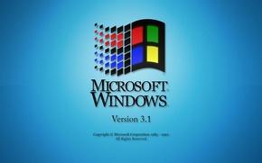 Picture blue, Microsoft Windows, retro, Operating system