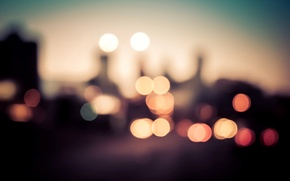Wallpaper bokeh, macro, colorful, the city, lights
