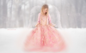 Picture nature, angel, girl