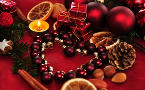 Wallpaper balls, holiday, balls, toys, new year, spruce, candles, tree, the scenery, bumps, happy new year, ...