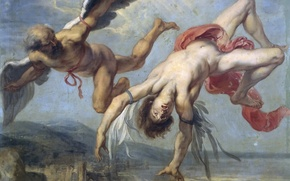 Picture picture, mythology, Jacob Peter Howie, The Fall Of Icarus